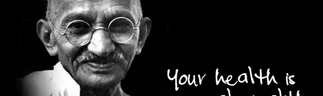 your health is your wealth M.ghandi
